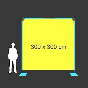 Zástěna 300 x 300 cm