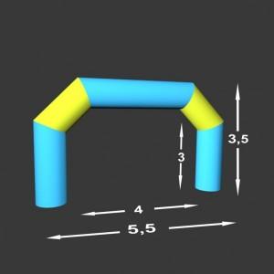 Lomená brána Pneu 5,5 x 0,49