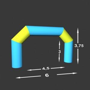 Lomená brána Pneu 6 x 0,75