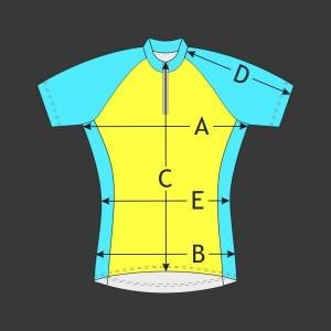 Cyklistický dres dámský Raglán kr. rukáv
