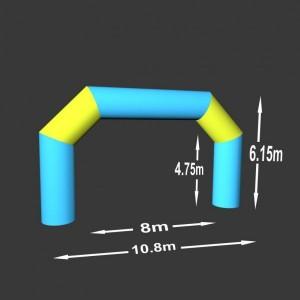 Lomená brána 8 x 4.75