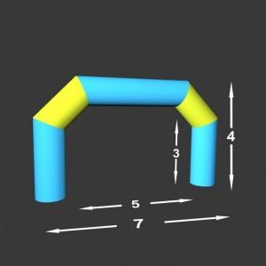 Lomená brána Pneu 7 x 0,98