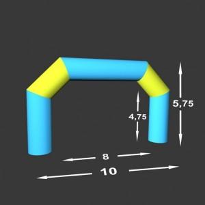 Lomená brána Pneu 10 x 0,98
