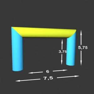 Rovná brána Pneu 7,5 x 0,75