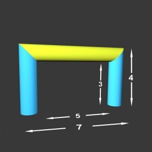 Rovná brána Pneu 7 x 0,98