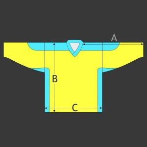 Hokejový dres Klasik s potiskem ramen a odvětráním