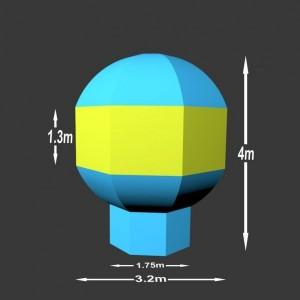 Nafukovací balón Charles 4 x 3.2