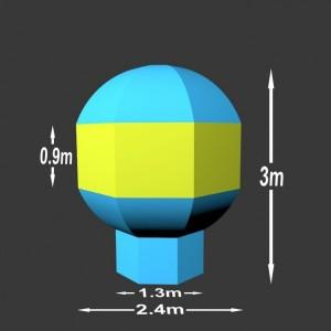 Nafukovací balón Charles 3 x 2.4