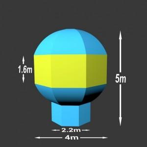 Nafukovací balón Charles 5 x 4