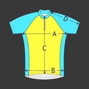 Cyklistický dres Raglán kr. rukáv