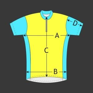 Cyklistický dres Rameno kr. rukáv