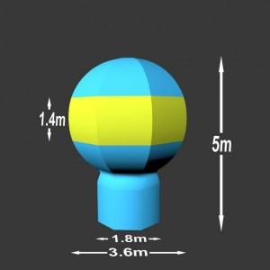 Nafukovací balón Piccard 5 x 3.6