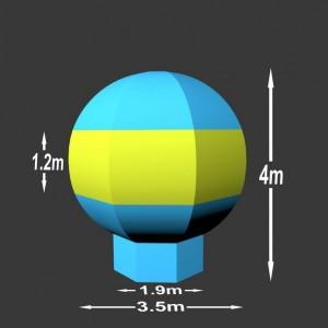 Nafukovací balón Guiton 4 x 3.5