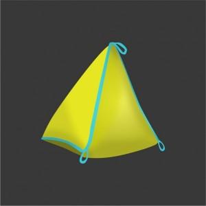 Nafukovací bóje trojúhelník 160x160x120 velký