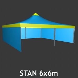 Čtyřboký nůžkový stan 6 x 6 m
