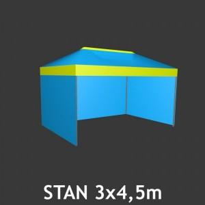 Čtyřboký nůžkový stan 3 x 4.5 m