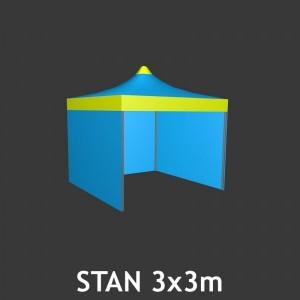 Svatební stan čtyřboký 3 x 3 m