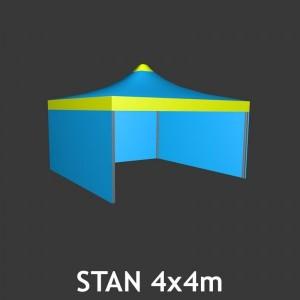 Svatební stan čtyřboký 4 x 4 m